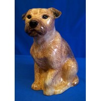 QUAIL BORDER TERRIER FLOWER VASE