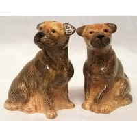 QUAIL BORDER TERRIER SALT & PEPPER SET