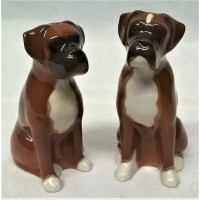 QUAIL BOXER DOG SALT & PEPPER SET