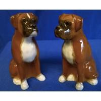 QUAIL BOXER DOG SALT & PEPPER SET