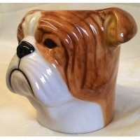 QUAIL BULLDOG PENCIL POT, DESK TIDY OR VASE