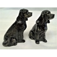QUAIL COCKER SPANIEL SALT & PEPPER SET – BLACK