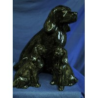 QUAIL COCKER SPANIEL SALT, PEPPER & MONEYBOX GIFT SET – BLACK