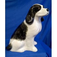 QUAIL COCKER SPANIEL MONEYBOX – BLACK & WHITE