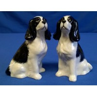 QUAIL COCKER SPANIEL SALT & PEPPER SET – BLACK & WHITE