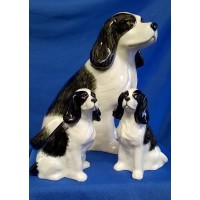 QUAIL COCKER SPANIEL SALT, PEPPER & MONEYBOX GIFT SET – BLACK & WHITE