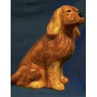 QUAIL COCKER SPANIEL MONEYBOX – GOLDEN