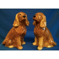 QUAIL COCKER SPANIEL SALT & PEPPER SET – GOLDEN