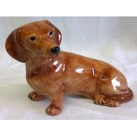 QUAIL DACHSHUND MONEYBOX – RED