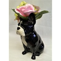 QUAIL FRENCH BULLDOG FLOWER VASE