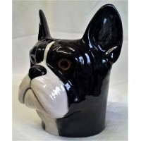 QUAIL FRENCH BULLDOG PENCIL POT, DESK TIDY OR VASE
