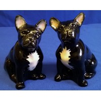 QUAIL FRENCH BULLDOG SALT & PEPPER SET – BLACK & WHITE