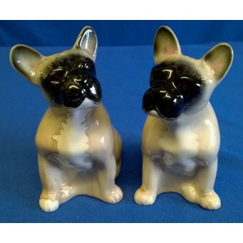 QUAIL FRENCH BULLDOG SALT & PEPPER SET – FAWN