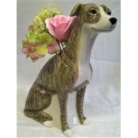 QUAIL GREYHOUND FLOWER VASE