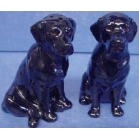 QUAIL LABRADOR SALT & PEPPER SET – BLACK
