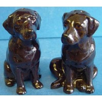 QUAIL LABRADOR SALT & PEPPER SET – CHOCOLATE BROWN