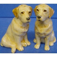 QUAIL LABRADOR SALT & PEPPER SET – GOLDEN