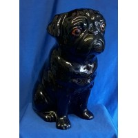 QUAIL PUG FLOWER VASE - BLACK