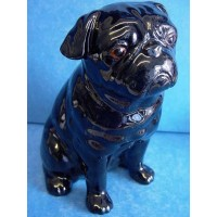QUAIL PUG MONEYBOX – BLACK