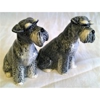 QUAIL SCHNAUZER SALT & PEPPER SET