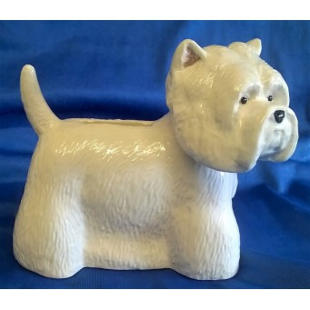 QUAIL WESTIE DOG MONEYBOX