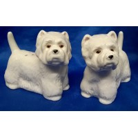 QUAIL WESTIE DOG SALT & PEPPER SET