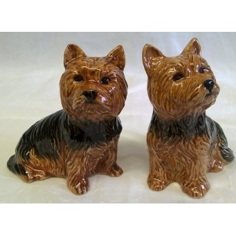 QUAIL YORKSHIRE TERRIER SALT & PEPPER SET