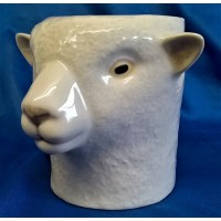 QUAIL SOUTHDOWN SHEEP PENCIL POT, DESK TIDY OR VASE