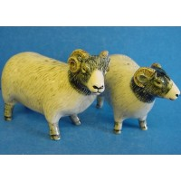 QUAIL SWALEDALE SHEEP SALT & PEPPER SET