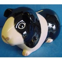 QUAIL GUINEA PIG MONEYBOX – BLACK & WHITE