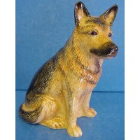 QUAIL ALSATIAN OR GERMAN SHEPHERD MONEYBOX