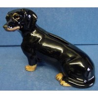 QUAIL DACHSHUND MONEYBOX – BLACK & TAN