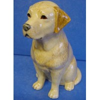 QUAIL LABRADOR MONEYBOX - GOLDEN