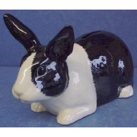 QUAIL DUTCH RABBIT MONEYBOX - BLACK & WHITE