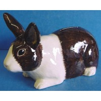 QUAIL DUTCH RABBIT MONEYBOX - BROWN & WHITE