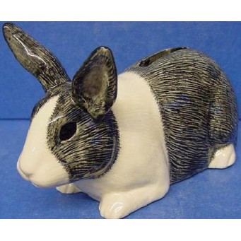 QUAIL DUTCH RABBIT MONEYBOX - GREY & WHITE