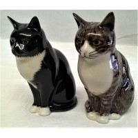 QUAIL CAT SALT & PEPPER SET - MILLIE & JULIUS
