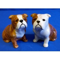 QUAIL BULLDOG SALT & PEPPER SET