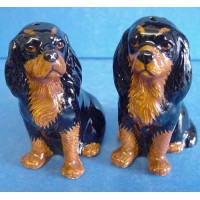 QUAIL CAVALIER KING CHARLES SPANIEL SALT & PEPPER SET – BLACK & TAN