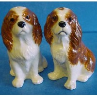 QUAIL CAVALIER KING CHARLES SPANIEL SALT & PEPPER SET – BLENHEIM