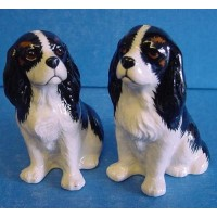 QUAIL CAVALIER KING CHARLES SPANIEL SALT & PEPPER SET - TRICOLOUR