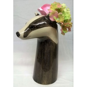 QUAIL BADGER FLOWER VASE