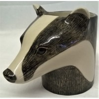 QUAIL BADGER PENCIL POT, DESK TIDY OR VASE