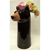 QUAIL BLACK BEAR FLOWER VASE