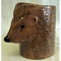 QUAIL HEDGEHOG PENCIL POT, DESK TIDY OR VASE