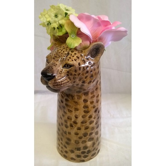 Leopard Table Vase by Quail Pottery ceramic china Gift Boxed