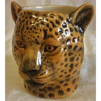 QUAIL LEOPARD PENCIL POT, DESK TIDY OR VASE