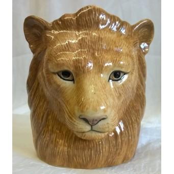 QUAIL LION PENCIL POT, DESK TIDY OR VASE