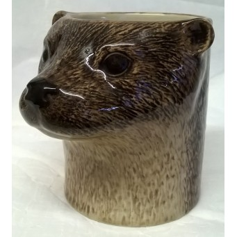 QUAIL OTTER PENCIL POT, DESK TIDY OR VASE