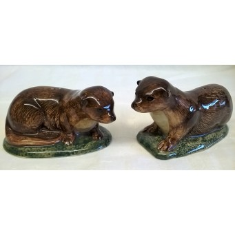 QUAIL OTTER SALT & PEPPER SET
